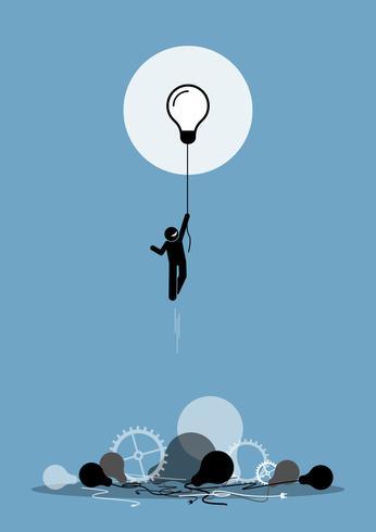 Innovator a créé une nouvelle idée de travail qui fonctionne.