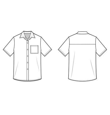 Camisas de manga corta vector