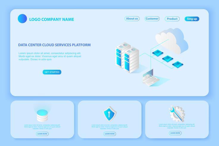 Header for Website of Platform Data center cloud services