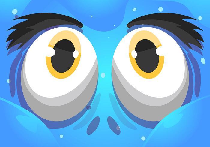 occhi di cartone animato