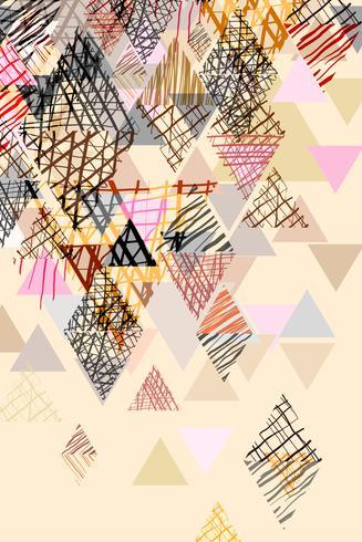 Doodle abstracte achtergrond in pastel toon.