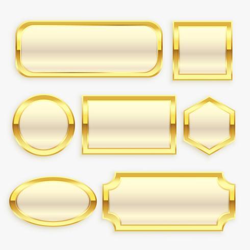 coleção de moldura ou rótulos vintage dourado brilhante