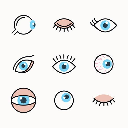 Outlined Set Of Eyes