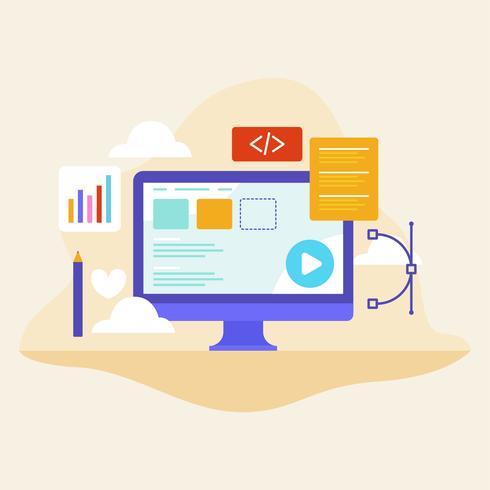 Illustrazione piatta di Web design