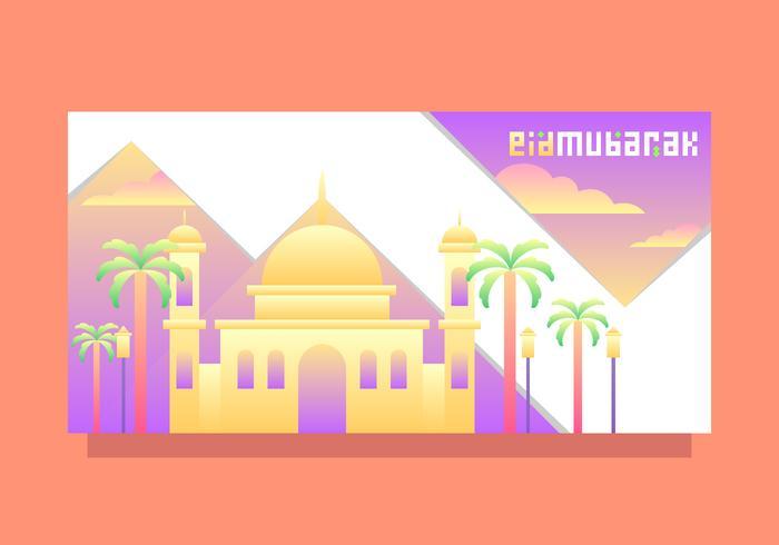 eid mubarak template vector