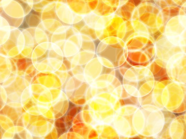 sfondo astratto con bokeh oro e sfondo senza soluzione di continuità. vettore