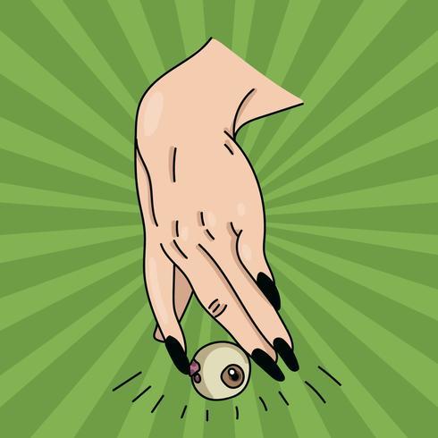 Heks Hand met oogbol