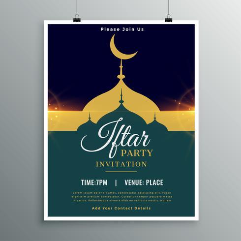 Plantilla de invitación de fiesta de Ramadán Kareem Iftar