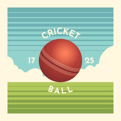 Ilustración de la bola de cricket