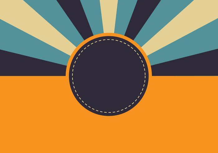 Fondo retro Sunburst