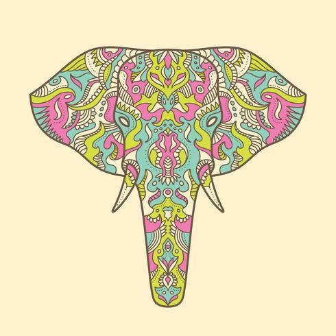 Elefante pintado