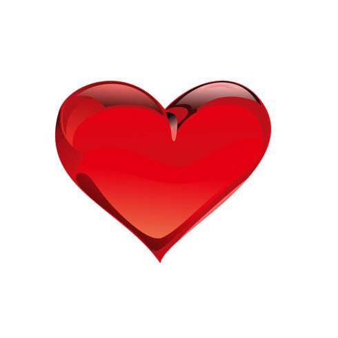 Modèle d'illustration de conception coeur amour vector