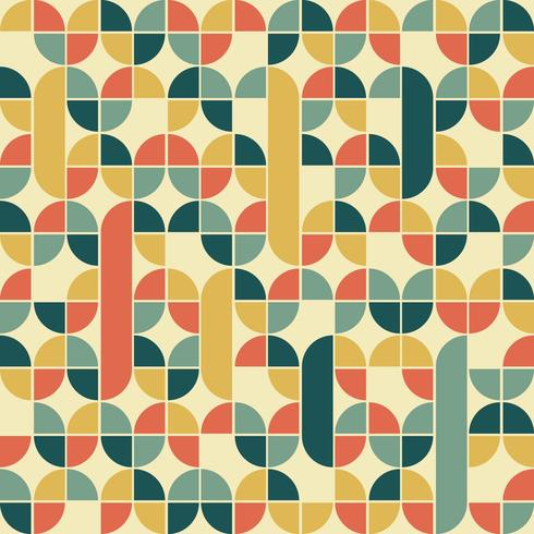 Vector patrón retro