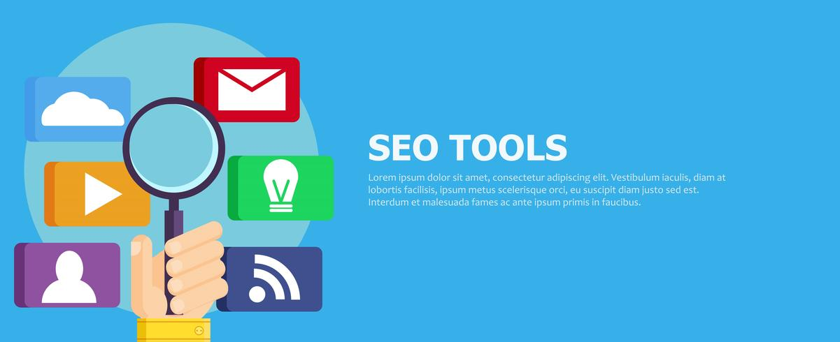 Zoekmachineoptimalisatie (SEO) Digitale marketingpictogrammen