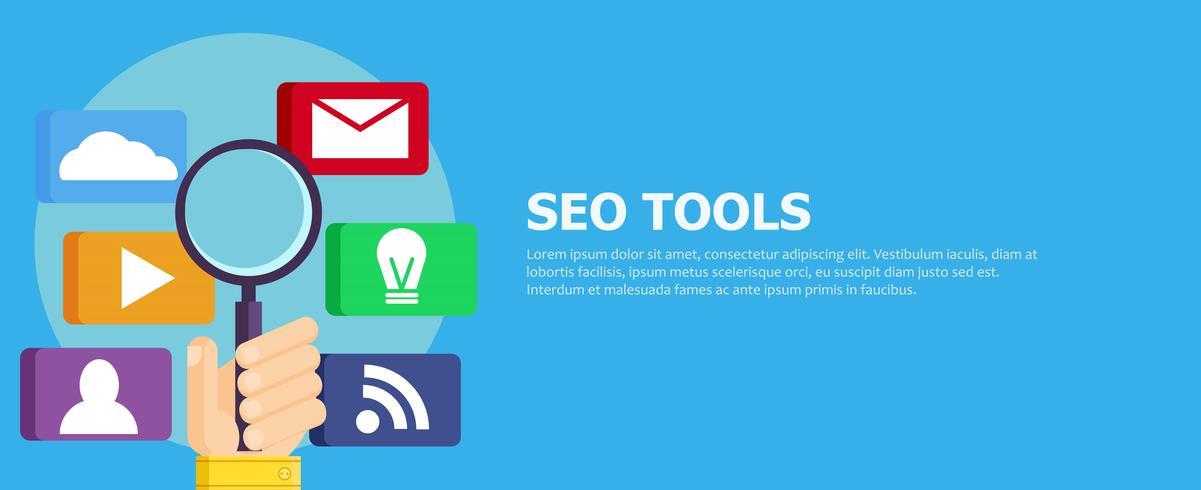 Search Engine Optimization (SEO) Ícones de Marketing Digital vetor