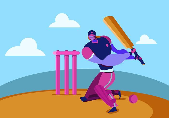 Giocatore di cricket vettore