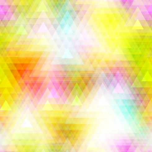 Polygone de triangle coloré et fond transparent.