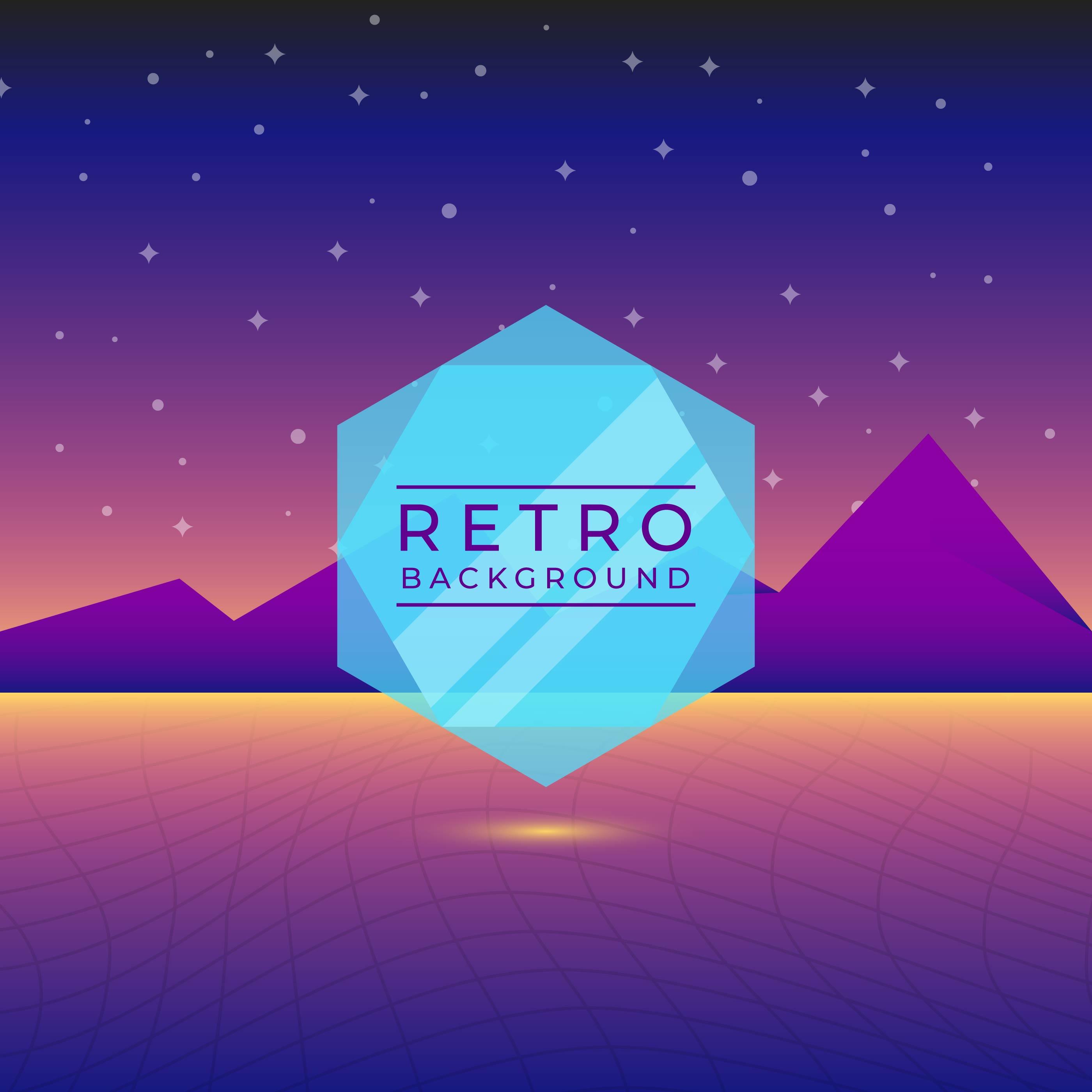 Flat Neon Retro Vector Background - Download Free Vectors ...