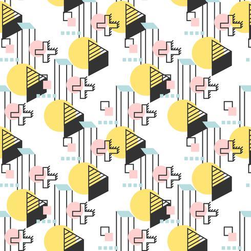 Lineaire geometrische retro patroon