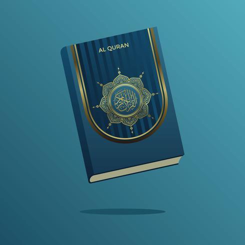 Blue And Gold Al Quran Vector