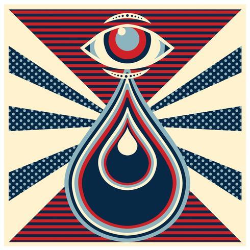 Diseño retro del vector del ojo
