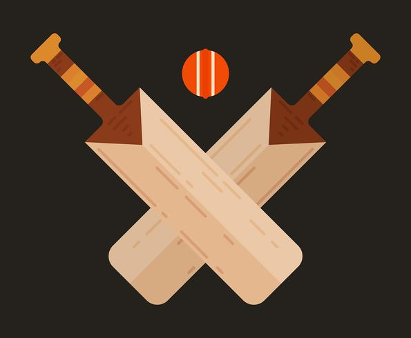 Cricket Bat Illustratie