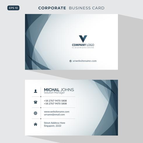 Modern creative business card and name card vector