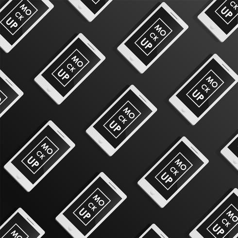 Set modello di corporate identity design. Mock-up phone. Concetto di vettore