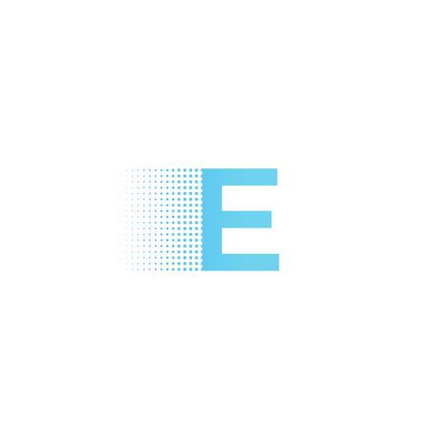 Pixel logo lettera tipografia. Logotipo di calligrafia moderna di carattere tecnologico. illustrazione