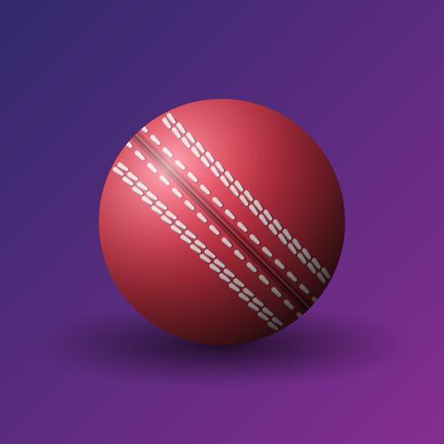 Balle de cricket rouge