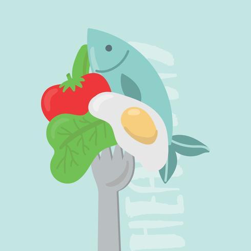 Piquer des aliments sains
