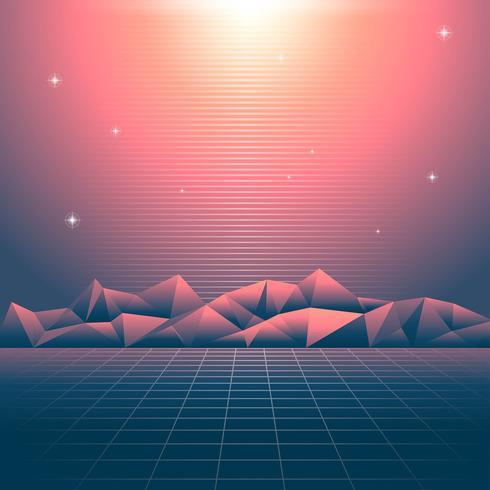 Retro Hintergrund Vaporwave Lights
