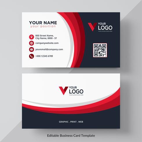 Cartão corporativo vermelho e preto