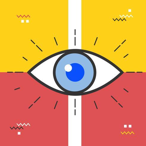 Vettore astratto dell'occhio