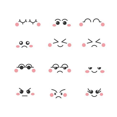 vettore di occhi dei cartoni animati