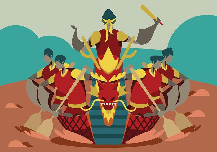 Festival do Barco-Dragão vetor
