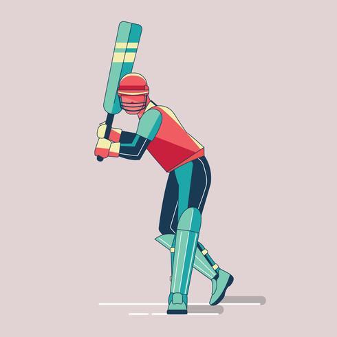 Batsman spelar cricket mästerskapsporter vektor