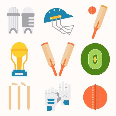 Cricket Utrustning Vector