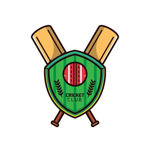 Vetor de logotipo de críquete