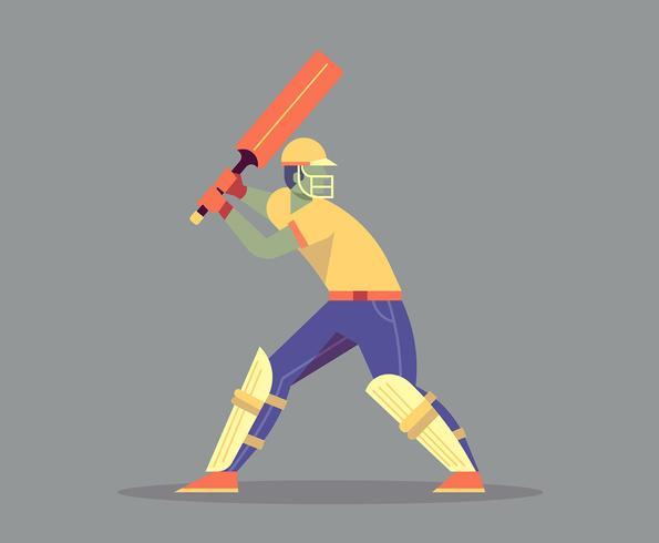Cricket speler illustratie