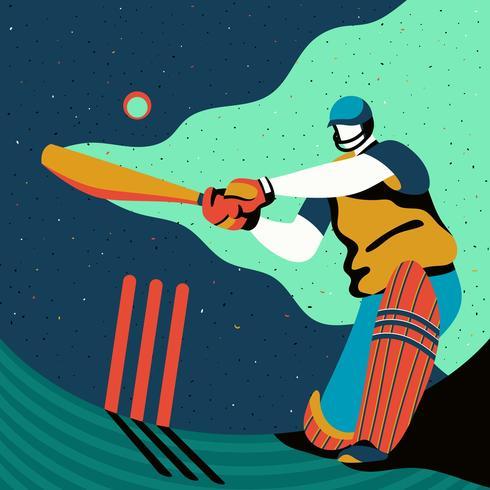 Cricket-Spieler-Aktion