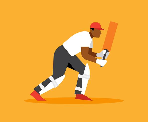 Illustration de joueur de cricket