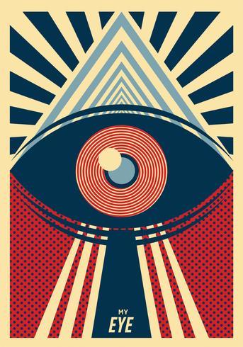 Disegno vettoriale di Eye Poster