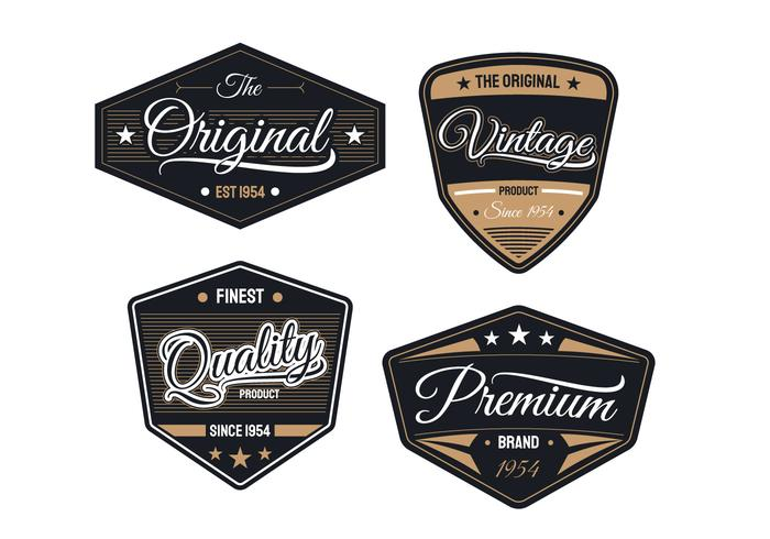 Badges Rétro