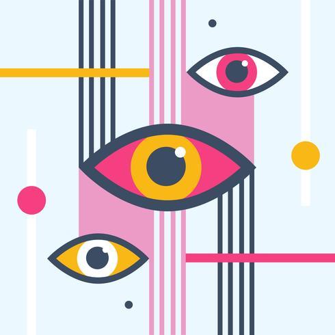 Illustration vectorielle oeil moderne