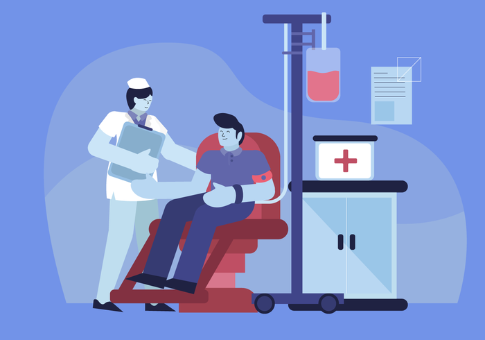 Daily Healthcare At Clinic Vector Character illustration