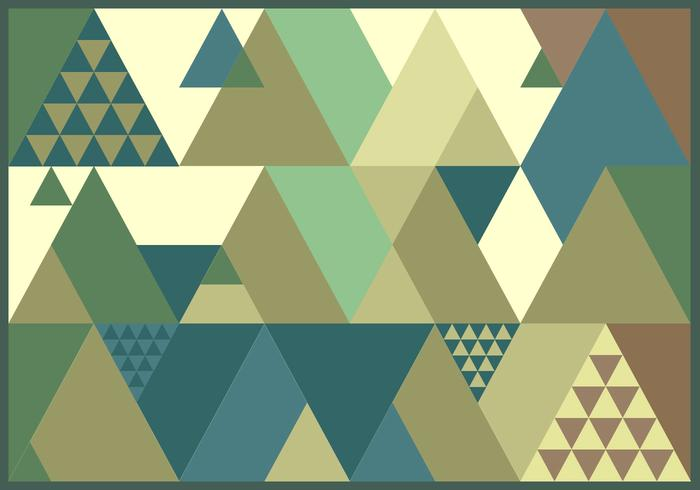 Triangolo Retro Pattern Vector