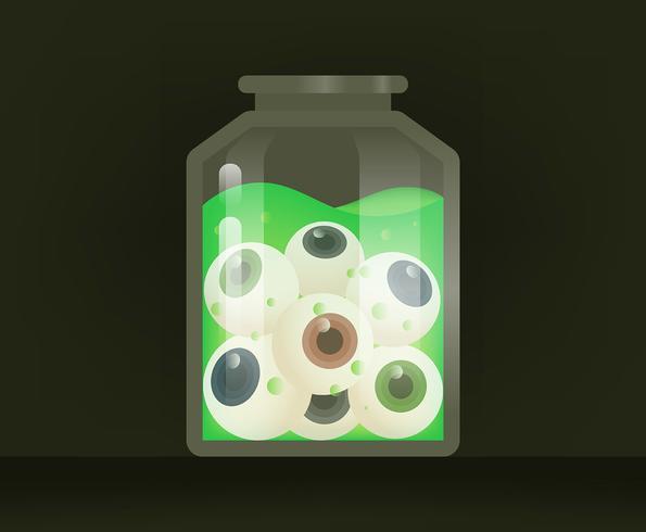 Ilustración globo ocular