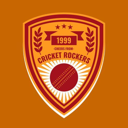 Funky Cricket Logo Vecteur