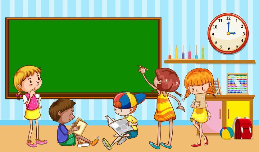 Kinderen leren in de klas